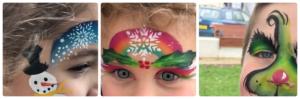 2018 12 HERNE BAY - Maquillages de Noël.. Bravo les enfants - Catherine Francis Yeats